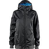 adidas Originals Womens Access Soft Shell Snowboarding / Skiing Hooded Jacket - Black