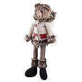 Balthasar the 48cm Large Shelf Edge Sitting Plush Bear in Hoodie Christmas Ornament