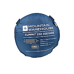 Unisex Autumn Summit 250 Hollowfibre Square Zipped Sleeping Bag