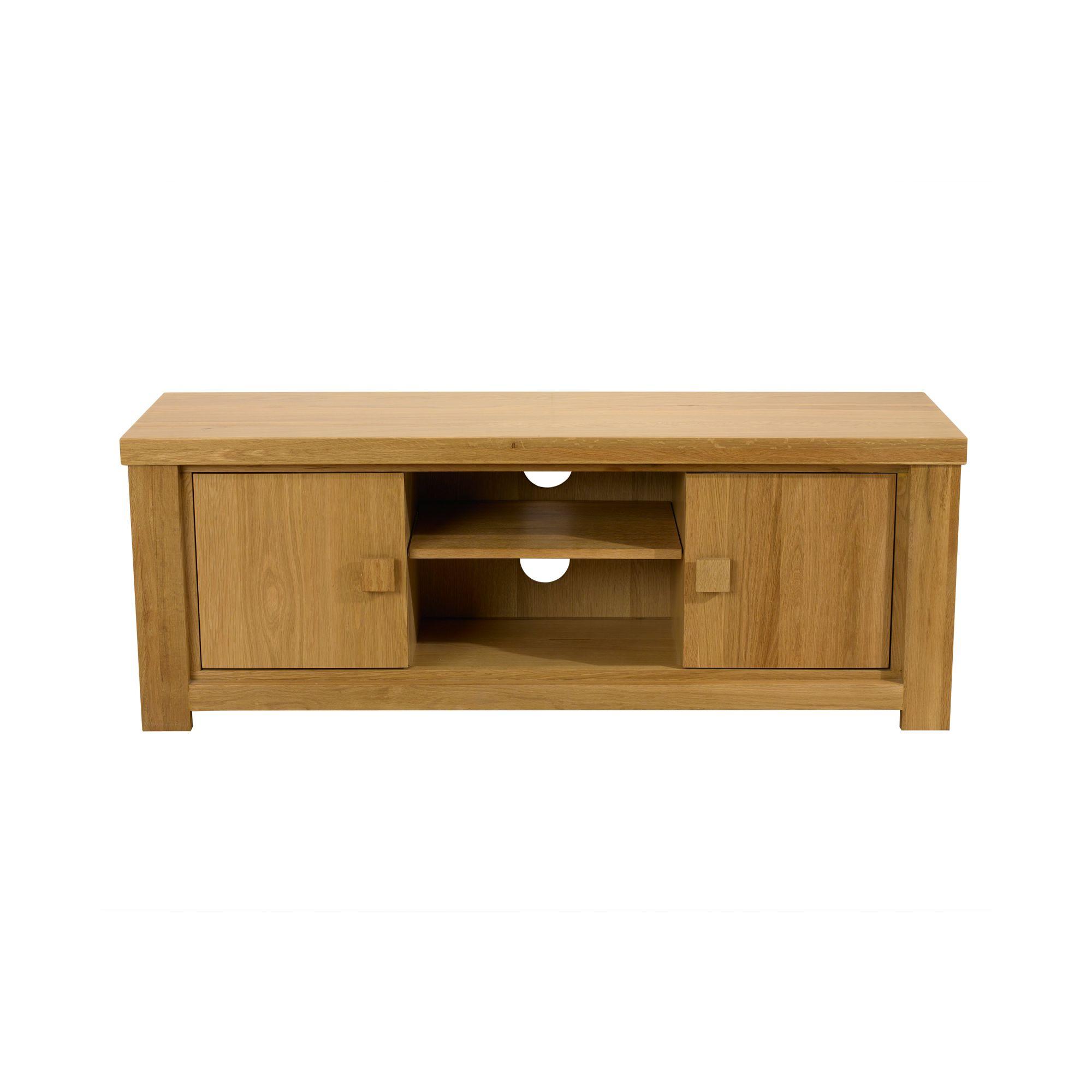 Mark Harris Furniture Barcelona 2 Door TV Unit in Solid Oak at Tescos Direct