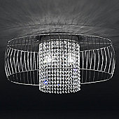 Metal Lux Nido Flush Light - Silver