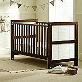 Saplings Megan Cot Bed - Walnut and White