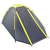 Tesco 2 Man Dome Tent - Grey/Green