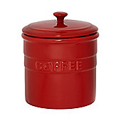 Linea Maison Coffee Jar In Red