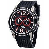 Time Force Alberto Contador Mens Silicone Day & Date Watch 4182M-14WA001182