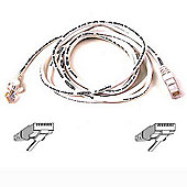 Cable Patch Cat6 RJ45 Snagless White 1m
