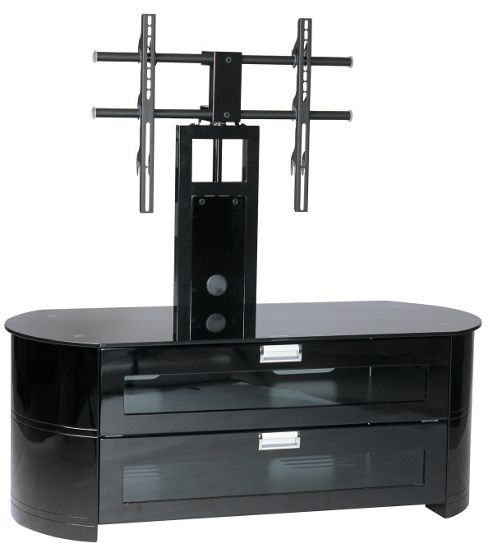 Gecko High Gloss Black Cabinet with Bracket