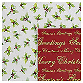 Deck the Halls Christmas Flat Wrap, 10 sheets