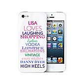 Personalised Top Ten Loves iPhone 5 Case