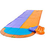 Garden Games 4.7m Double Racing Water Slide with 2 Inflatable Boogie Boards and Sprinkler