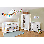 Little House Nursery Furniture Room Set with Sprung Mattress - Brampton Collection