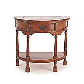 Aspect Design by Wayfair East Indies Half Round Console Table with Bottom Shelf