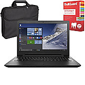 "Lenovo Ideapad 110 15.6"" Laptop AMD A6-7310 4GB 1TB With BullGuard Internet Security & Case"