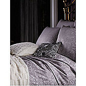 Biba Silver Scroll Jacquard King Duvet Cover