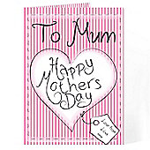 Personalised Heart Stitch Happy Mother's Day Card