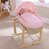 Clair de Lune Palm Moses Basket (Starburst Pink)