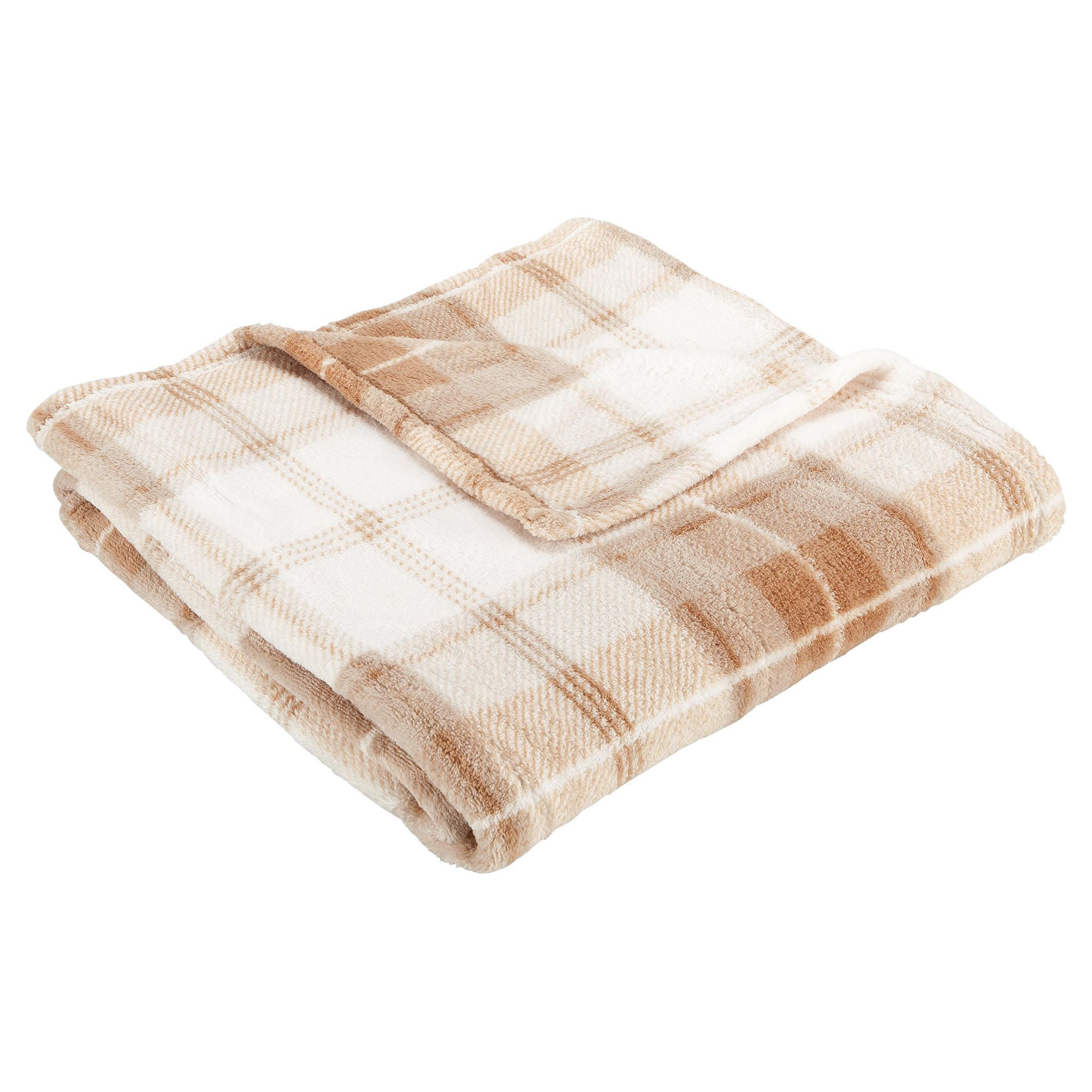 Home And Garden gt Bedroom Tesco Supersoft Throw Check