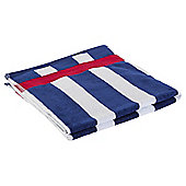Tesco Wide Navy Stripe Beach Towel