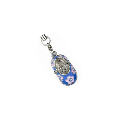 Rhinestone Dolly Shoe Phone Charm