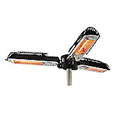 Outsunny Umbrella Parasol Mounted Infrared Heater 1500W