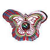 Iron Stop Designer Gazing Ball Butterfly Wind Spinner 10in