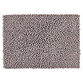 Tesco Chenille Bath Mat Slate Grey