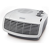 DeLonghi HTF3033 3kW Flat Fan Heater Black/White