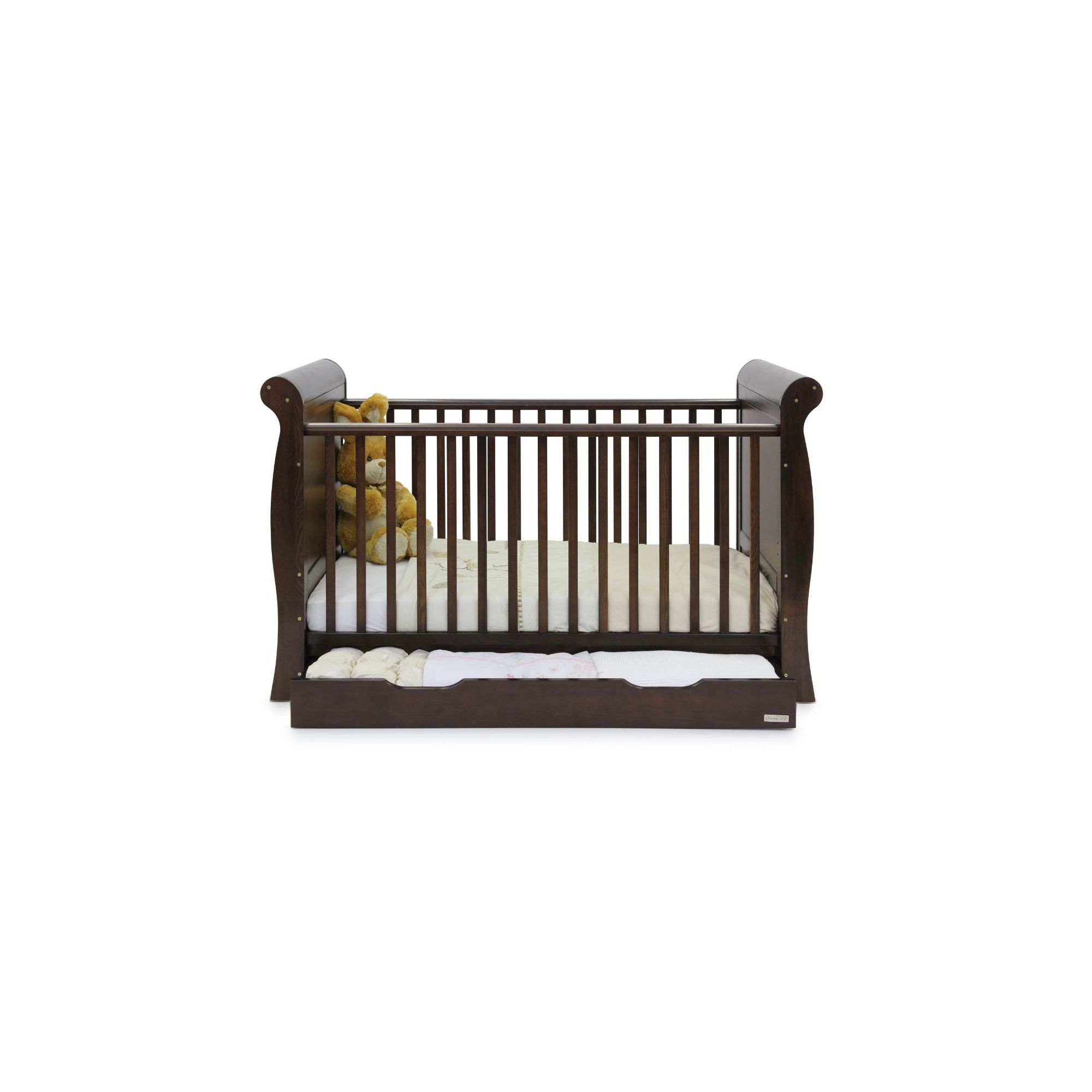 Babystyle Hollie Sleigh Bed in Walnut at Tesco Direct