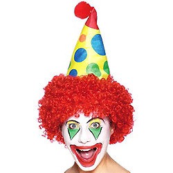 Clown Hat with attached Wig