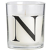 SWEET VANILLA ALPHABET CANDLE LETTER N