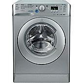 Indesit Innex Washing Machine, XWA81482XS, 8KG Load, Silver