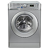 Indesit Innex XWA81482XS Washing Machine, 8Kg Wash Load, 1400 RPM Spin, A++ Energy Rating, Silver