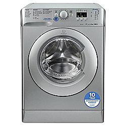 Indesit Innex Washing Machine, XWA81482XS, 8KG Load, Silver