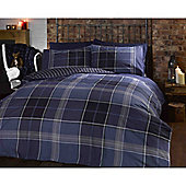 Rapport Heritage Argyle Single Quilt Set Blue