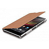 Xperia Z1 Executive Book Case Desert Tan