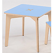 Foppapedretti Bambino Legno Tiscrivo Table in Natural / Light Blue