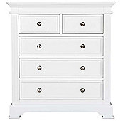 Ultimum Banbury Elegance White 2 Over 3 Chest of Drawers