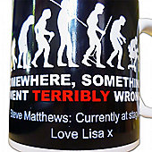 Evolution Novelty Mug