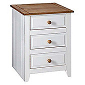 Home Essence Capri 3 Drawer Bedside Table