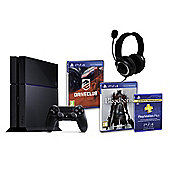 PS4 (Black) With BloodBorne, Driveclub, GP3 Headset, PSPlus (3Mth)