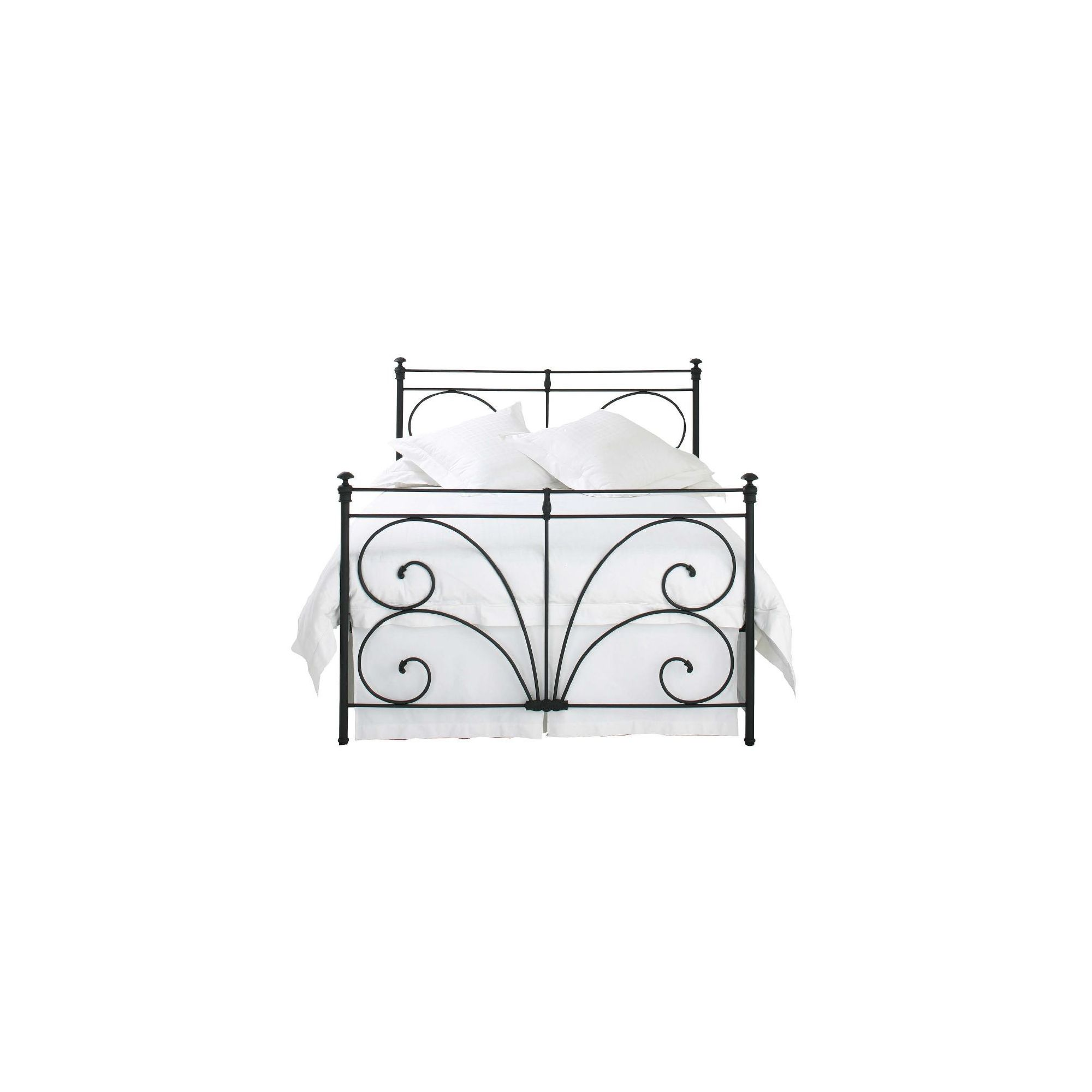 OBC Errol Bed Frame - Double - Glossy Ivory at Tesco Direct