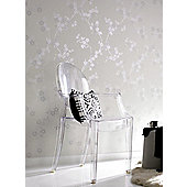 Superfresco Cherry Blossom Wallpaper - White Mica
