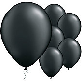Onyx Black Balloons - 11' Pearl Latex Balloon (6pk)