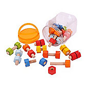 Bigjigs Toys BJ680 Jar of Nuts and Bolts