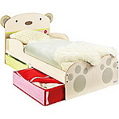 SnuggleTime Bear Hug Toddler Bed with Underbed Storage
