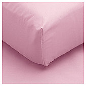 Tesco Fitted Sheet Single Petal Pink