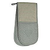 Dexam Love Heart Sage Green Double Oven Glove 16140143
