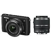 "Nikon 1 S1 Mirrorless System Digital SLR Camera, Black, 10.1MP, 3"" LCD Screen,  11-27.5mm & 30-110mm Lens"