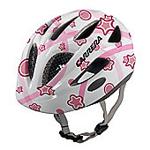 Carrera E0433 Boogie Kids Helmet Rear Light White/Pink Stars XXSmall - XSmall 46-51cm