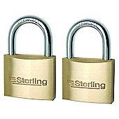 Sterling Brass Padlock - 30mm Pack of 2